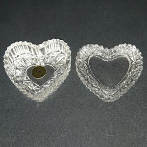 crystal heart box